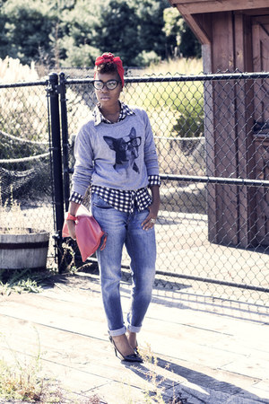 Skip N Whistle sweatshirt - boyfriend jeans H&M jeans - TheySkens Theory pumps