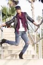 Indigenous scarf - Aldo boots - Current Elliot jeans