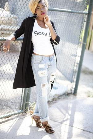 long blazer luluscom jacket - boyfriend Missguided jeans