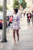 cropped Motel Rocks top - tartan Motel Rocks skirt - Kurt Geiger heels