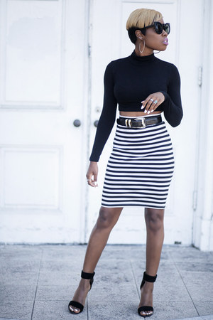 pencil skirt BB Dakota skirt - Tibi shoes - cat eye zeroUV sunglasses