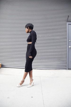 crop top Boohoo top - Aldo heels