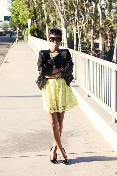 lace dress Lucy Paris dress - TheySkens Theory heels