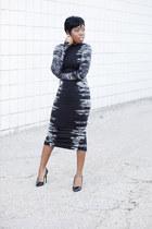 midi H&M dress - Theory heels
