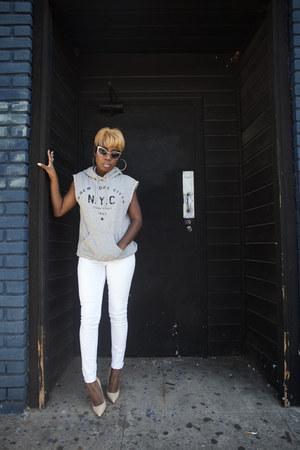 white jeans asos jeans - sleeveless Mango sweatshirt