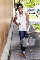 fidelity jeans - melie bianco bag - Zamrie top