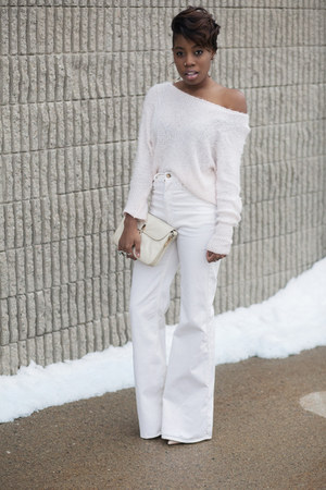 fluffy Love sweater - wide leg American Apparel jeans