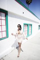 ami clubwear sandals - fringe dress Missguided dress