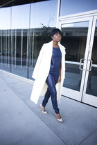 Missguided coat - Jimmy Choo heels - Tamar Collection suit