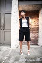 bermuda shorts Zara shorts - Club Monaco top - Forever 21 vest