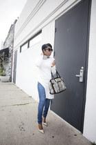 tunic asos top - jeans YMI jeans - Jimmy Choo heels