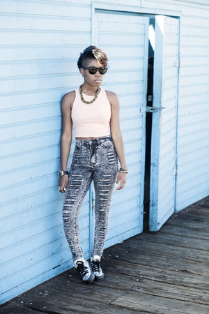 crop top asos top - high waisted Moda Expressed jeans