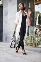 high waist Zara jeans - sandals Tibi sandals