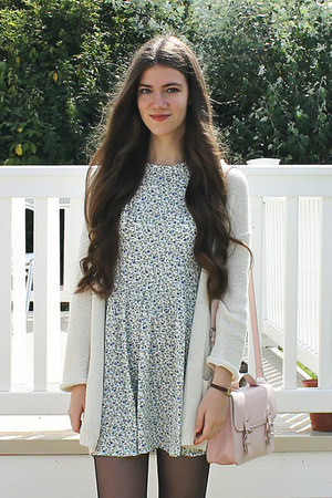 H&M dress - Topshop bag - H&M cardigan