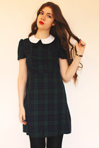 tartan Primark dress - American Apparel watch