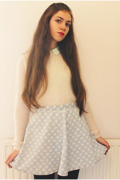 Topshop skirt - new look jumper - H&M blouse