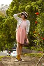 Peach-american-apparel-dress-light-blue-slip-vintage-dress-neutral-cloche-uo