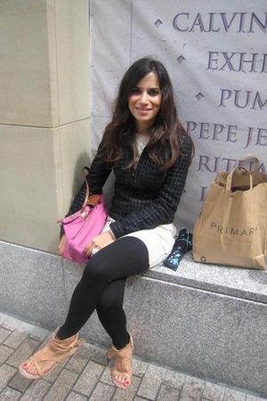 beige Nine West shoes - black Dorothy Perkins leggings - black Kate Moss for Top