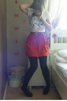 Urban Outfitters t-shirt - American Apparel skirt - KG shoes