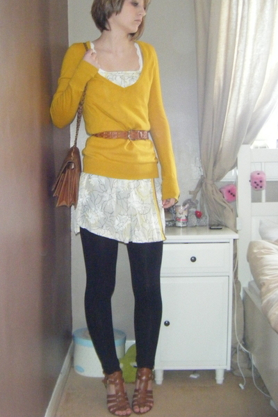 Topshop sweater - vintage dress - Joy purse - Nine West shoes