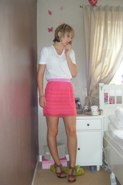 balenciaga skirt - American Apparel t-shirt - Topshop shoes