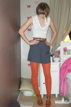 American Apparel top - American Apparel skirt - Nine West shorts - Topshop tight