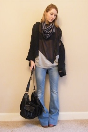 Mango jeans - All Saints purse