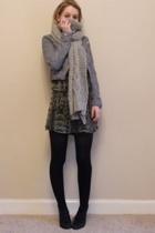 gray H&M jacket - black KG shoes - gray H&M dress