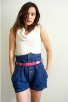 the original 80&#x27;s high waist jean shorts