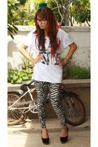 peacelovefashion shirt - Poisonberrymanila leggings - The Ramp shoes - F&H glass