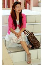 Mango accessories - random from GH dress - thrifted cardigan - CMG accessories -