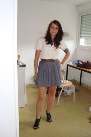 General Eccentric shirt - Forever21 skirt - Catisa shoes