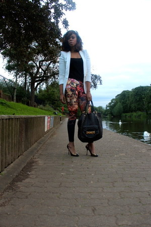Zara blazer - mui mui bag - dolce&gabanna heels