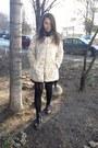 Black-bershka-shoes-black-h-m-dress-neutral-stradivarius-coat