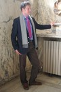 Navy-charles-tywritt-blazer-blue-jaeger-shirt-heather-gray-hugo-boss-scarf