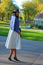 Fedora-h-m-hat-blue-marni-blazer-blue-asos-bag