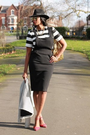 mustard High Spirit bag - black pinafore column asos dress