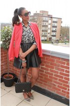 red cotton Zara blazer - Reiss shoes - quilted Chanel bag