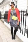 Opry-print-zamrie-dress-suede-stuart-weitzman-boots-zara-blazer