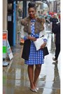 Blue-plaid-pencil-topshop-skirt-white-monochrome-river-island-coat