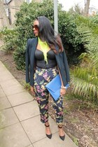 floral whistles pants - navy structured River Island blazer