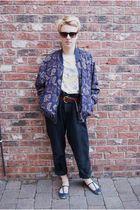 vintage jacket - Topshop t-shirt - vintage jeans - Topshop shoes - Primark sungl