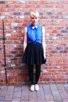 vintage shirt - handmade by me tie - H&M skirt - Topshop shoes