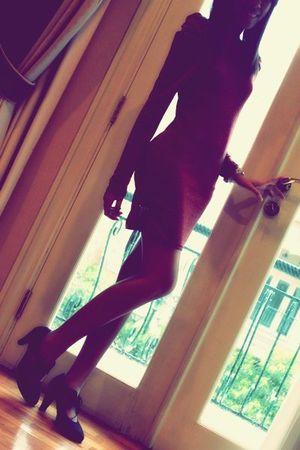 red plopherz dress - black blush shoes