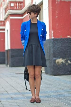 blue Mango blazer - brown Pimkie shoes - black Primark dress