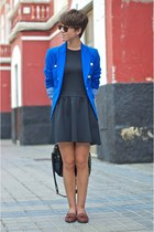 blue Mango blazer - brown Pimkie shoes - black Primark dress