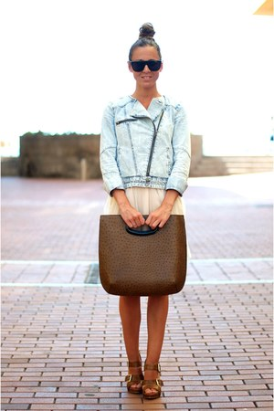 romantic Compania Fantastica dress - jean Zara jacket - Marni bag