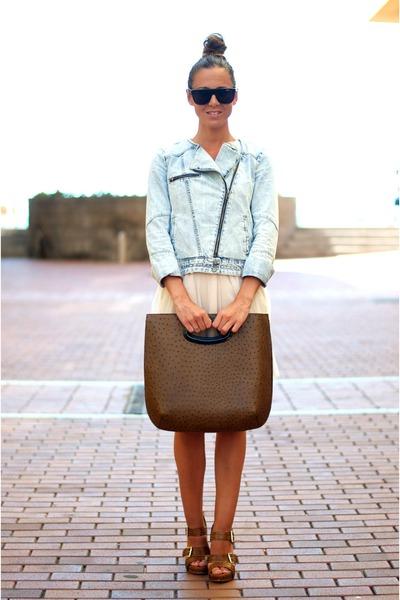 romantic Compania Fantastica dress - jean Zara jacket - Marni bag