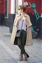 beige Zara coat - black Zara bag - black Michael Kors sunglasses