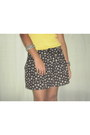 Sunflower-skirt-h-m-shorts-mango-blouse